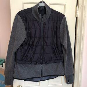 Athleta Grey & Black Fleece Jacket